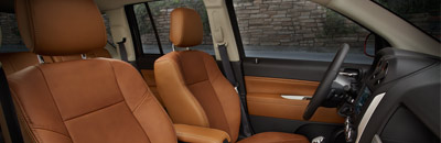 Available leather-faced seats and heated front seats