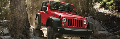Best-in-Class 4x4 capability, ground clearance, ramp breakover angle, and approach and departure angles23 (Rubicon®)