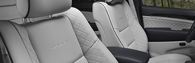 New all-leather interior option featuring premium Laguna leather seats on Summit® models