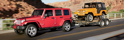 Unsurpassed towing capability – 1,588 kg (3,500 lb) (Wrangler Unlimited).23